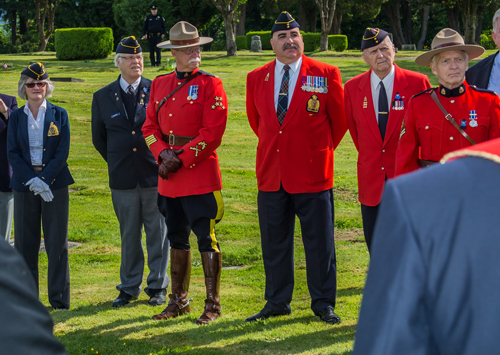 Photograph of RCMP Veteran - Vancouver Division in attendance at the memorial service (Source of photo - Sheldon Boles).