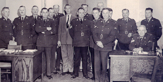 1950 - Photograph of RCMP members at North Battleford Subdivsion (Source of photo - Jack Doyle #11768)