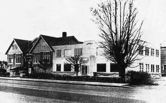 Photograph of RCMP Cloverdale Detachment which was occupied from 1963 to 1972.