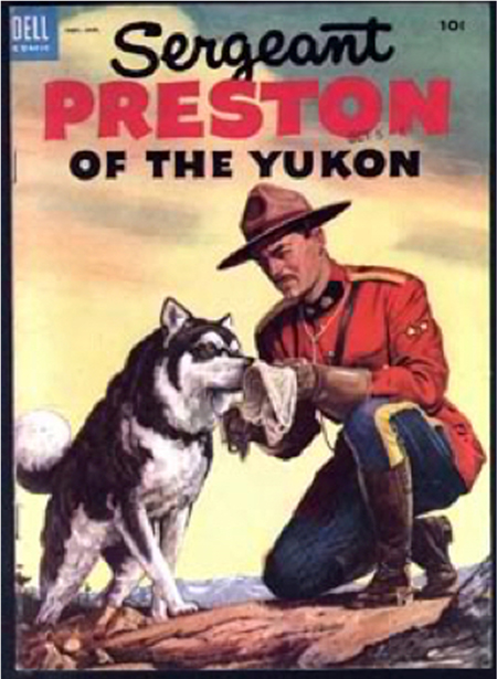 Sergeant Preston of the Yukon comic book.