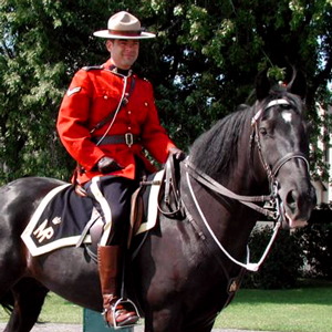 RCMP member on horseback