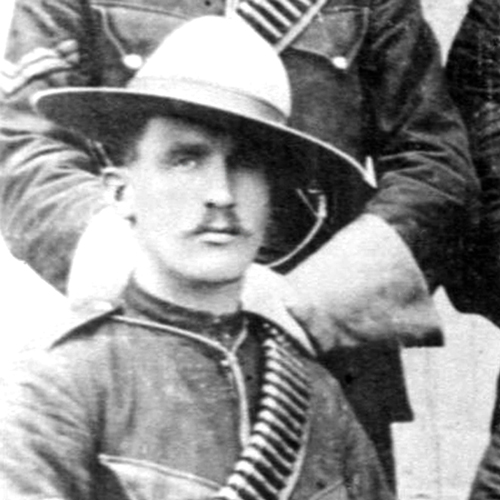 """1897 - Photograph of Sergeant Walter Wrixton de Rossiter (Source of photo - RCMP Historical Collections Unit - """"Depot"""" Division)."""