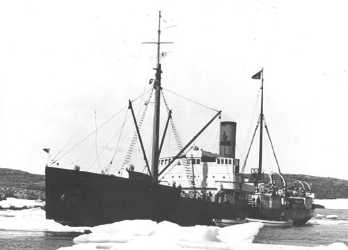 Photograph of the Hudson Bay Company's ship - Nascopie (Source of photo - Hudson Bay Historical).
