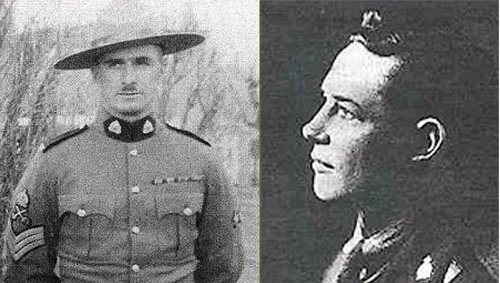 Photographs of (left to right): Sgt. Thomas Wallace (Reg.# )and Constable John Shaw (Reg.# )