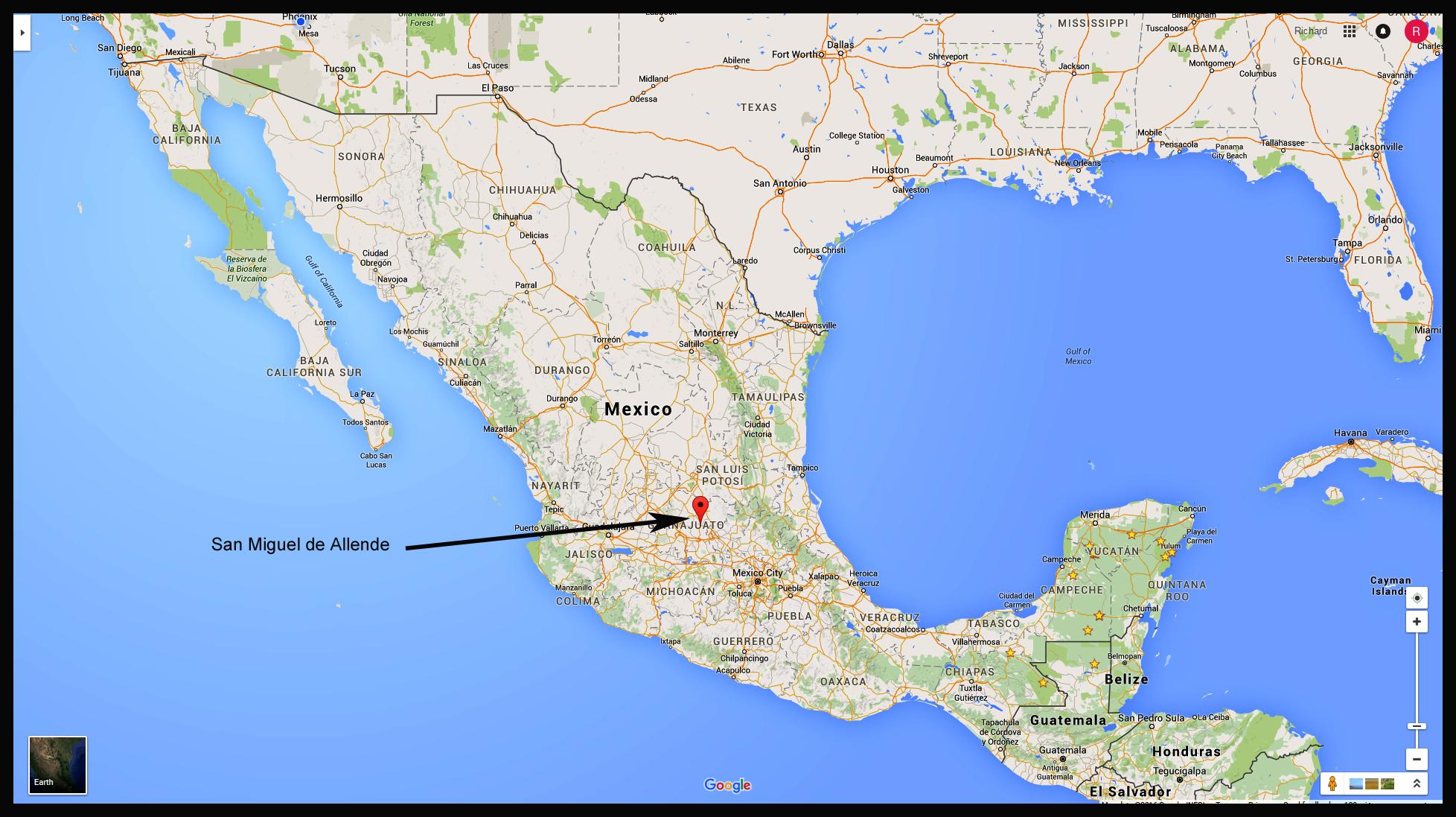 City Map Of Mexico Sa Miguel De Allende