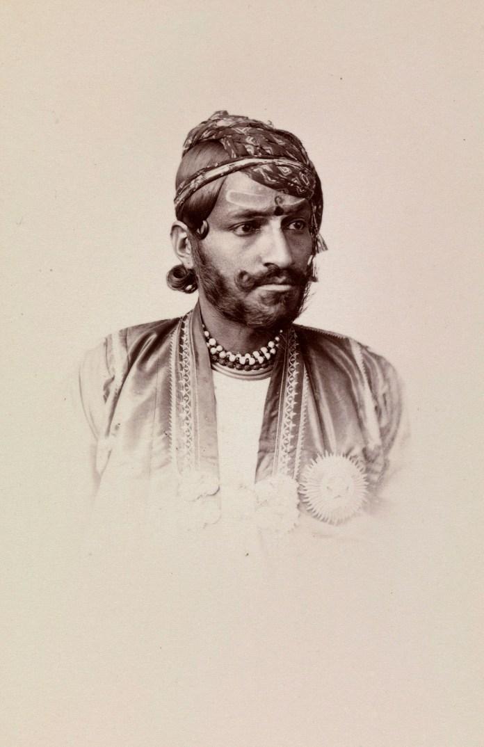 Photograph of Ram Singh II maharaja of Jaipur