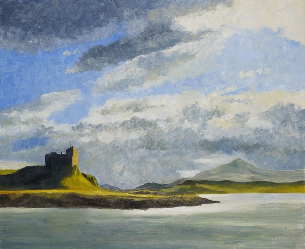 RCIN 403108 - Duart Castle from the Sound of Mull