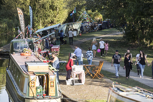 Roving Canal Traders trading at the Black Country Boating Festival 2019.