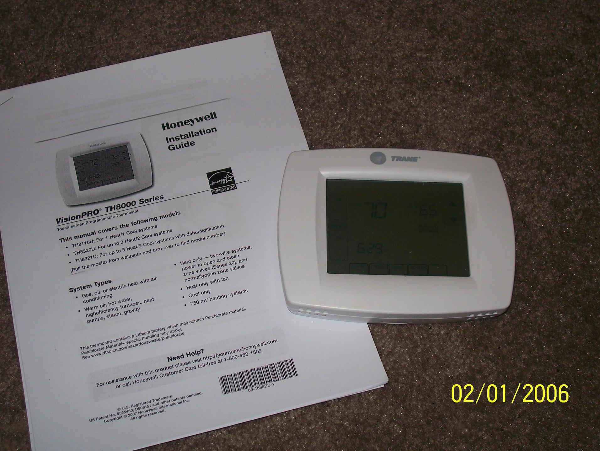 Honeywell Commercial Thermostat Installation Manual Wiring Guide