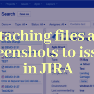 Attaching files and screenshots to issues in JIRA
