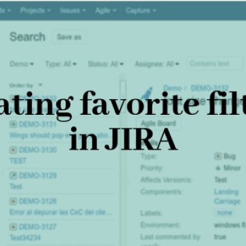 Creating favourite filters in JIRA
