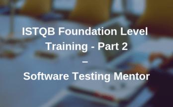 ISTQB Foundation Level Training Video Part 2