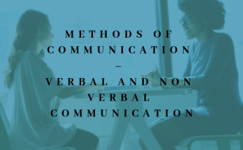 Communication methods - verbal and non verbal communication