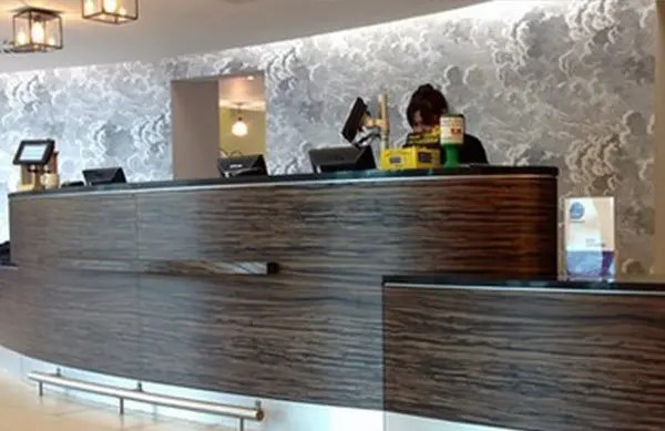 3M DI NOC Architectural Finish on Hotel Desk