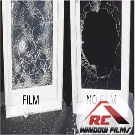 with and without security window film