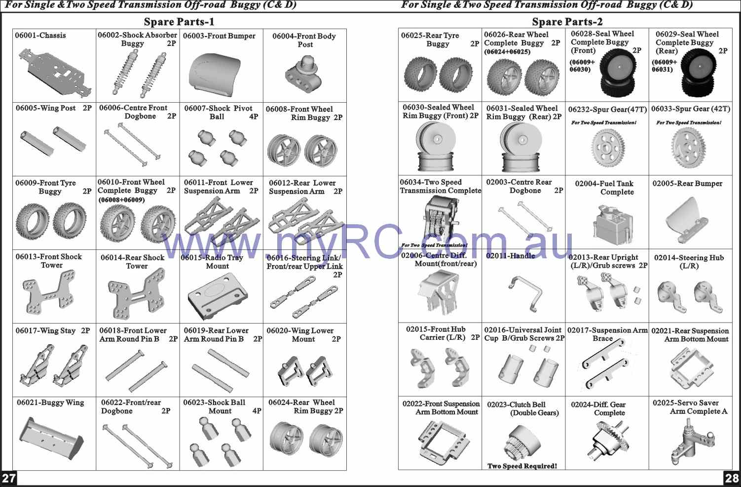 Himoto Nitro Buggy Parts List 15