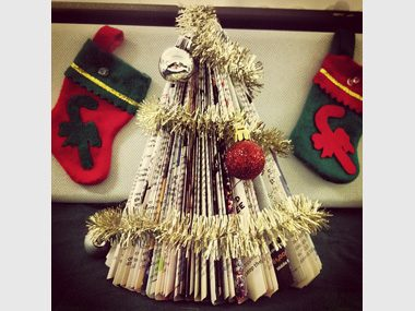 Crafty Christmas Tree Out Of Readers Digest Magazines