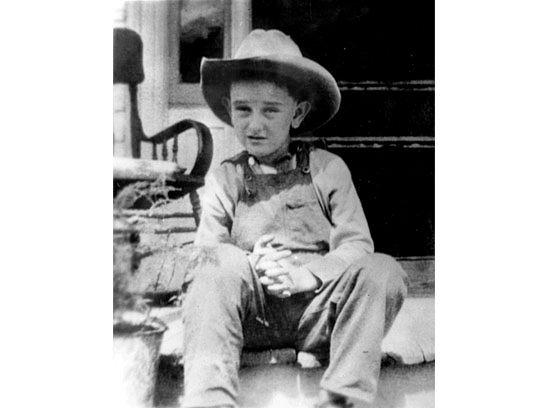 Lyndon Johnson's birthday is August 27. Even near his birth he looked like the cowboy-hatted president we remember. Image from Readers Digest