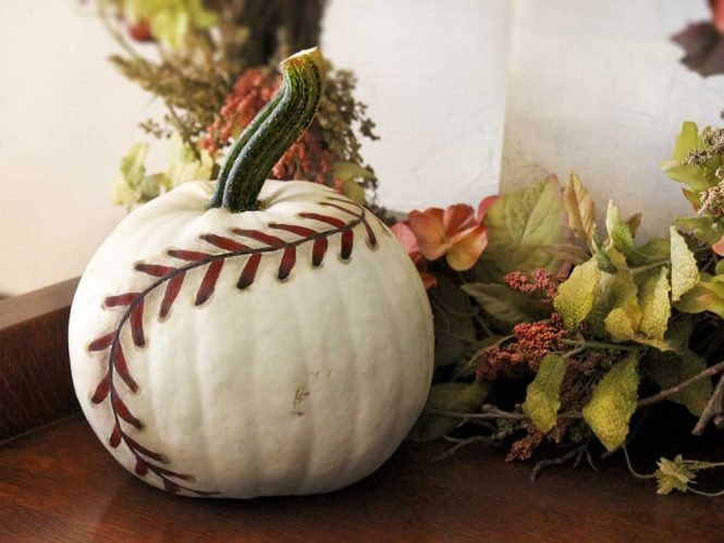 Pumpkin Courtesy Life In Left Field Isn T Just About Ghosts And Ghouls Baseball Can Have Their Share Of Decorations Too Thanks To