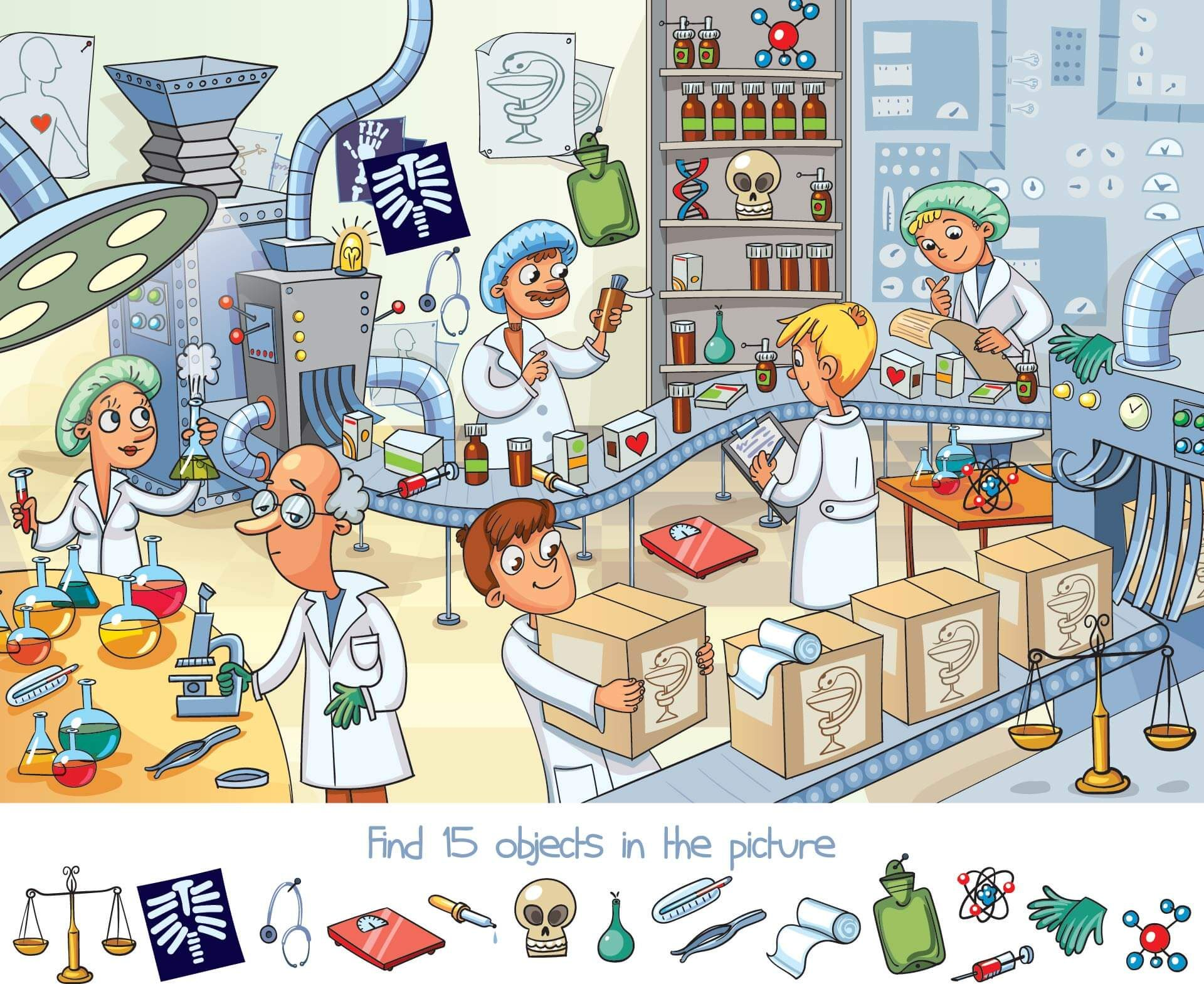 Can You Find The 15 Objects Hidden In This Picture