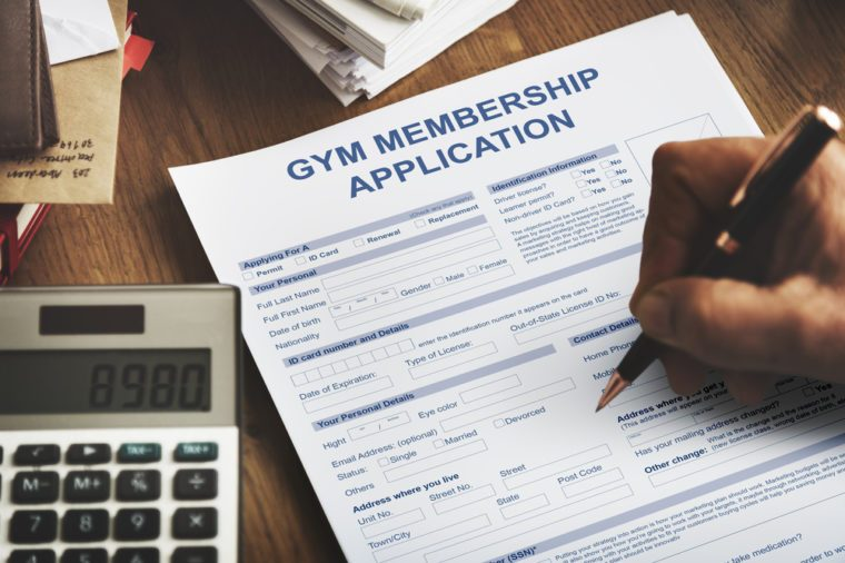 Gym Membership Application Wellness Concept
