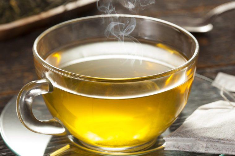 Hot Organic Healthy Green Tea with antioxidants