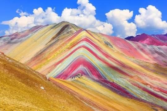 Vinicunca, Cusco Region, Peru. Montana de Siete Colores, or Rainbow Mountain.