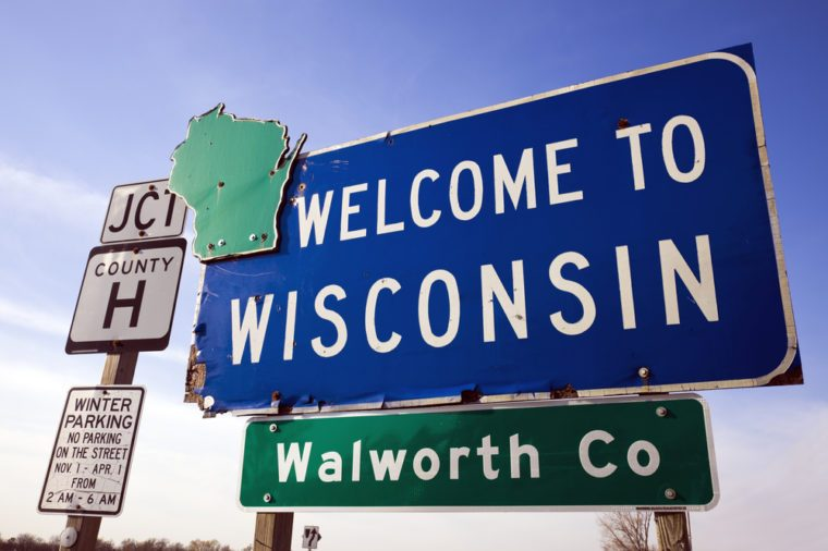Welcome to Wisconsin road sign.