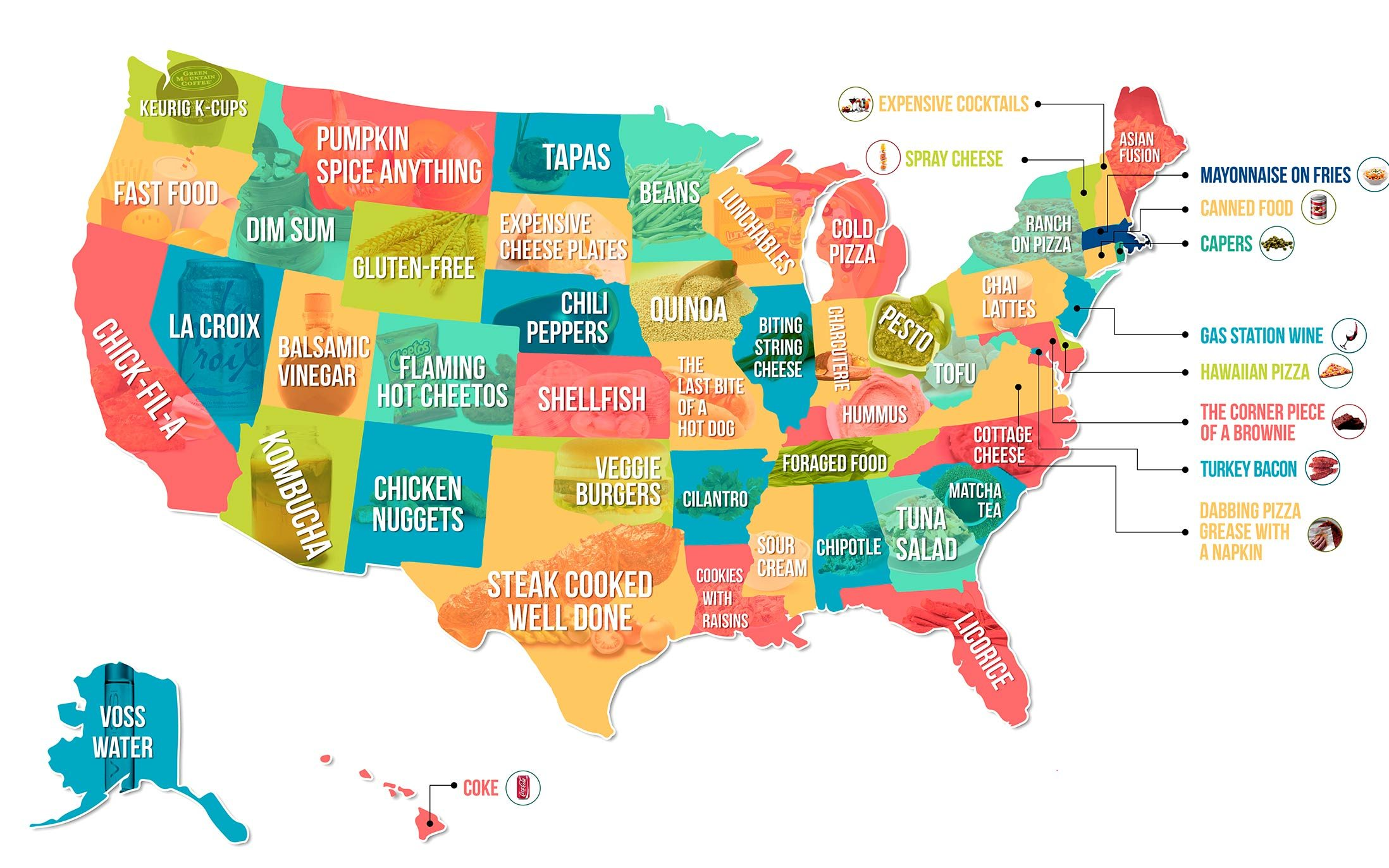 This Map Shows The Food Your State Hates The Most