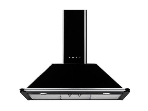 WALL MOUNTED COOKER HOOD BLACK 110 CMS VICTORIA STYLE SMEG KT110BLE