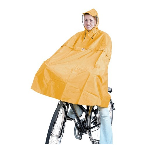 The model in this picture actually is not me, but the German Bike Poncho is real.