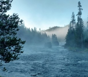 Morning fog on the Madison river.