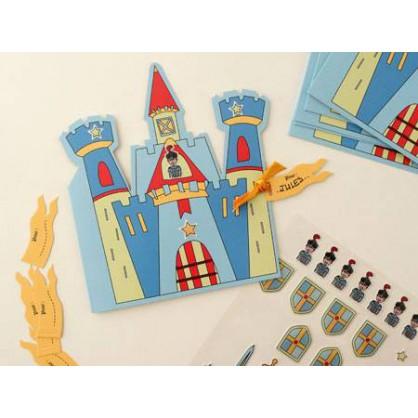 set de 6 cartes invitation chevalier