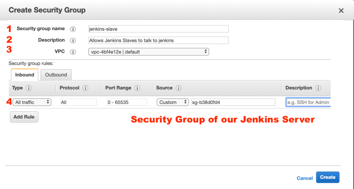 aws sec group window
