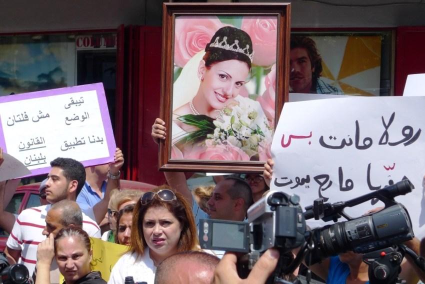 Roula Yakoub protest 2013 2