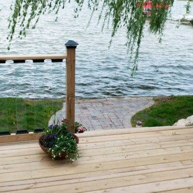 Patio and Brick Walkway on the Lake