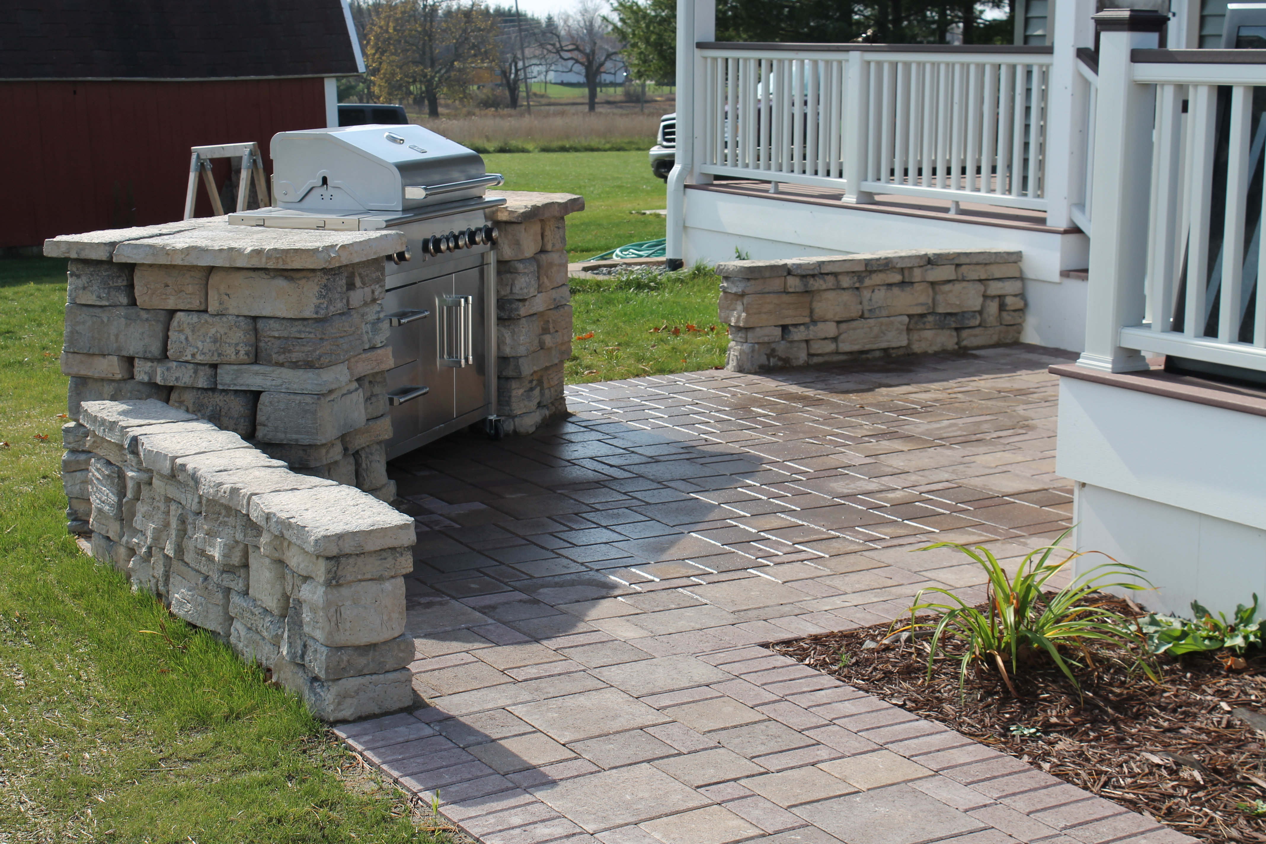 built in grill patio remote fire pit