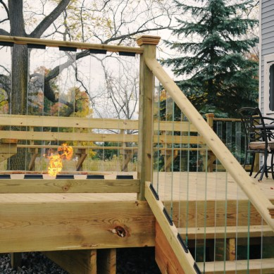 Deck with Built In Fire Pit