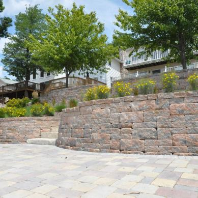 Lakefront Retaining Walls and Steps