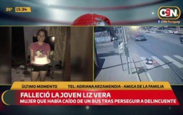 Fallece Liz Vera, la joven que cayó de bus tras asalto