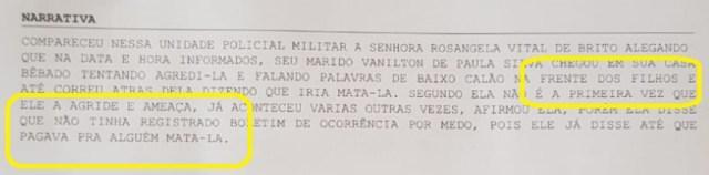 contriguaçu vereador Vanilton de Paula Silva BO