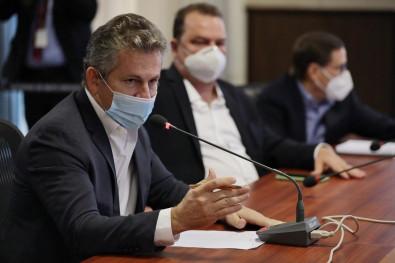Governador Mauro Mendes e Max Russi