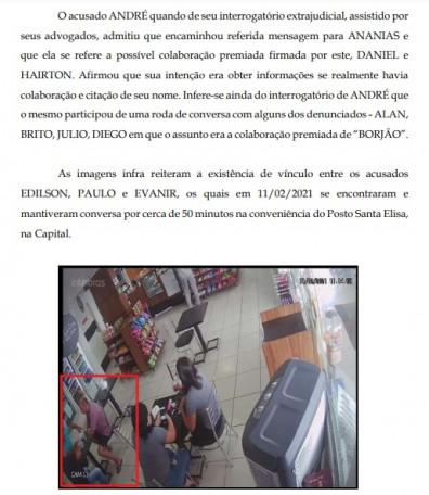 Reunião entre acusados - Operação Renegados - Edilson Antônio da Silva, Paulo da Silva Brito e Evanir Silva Costa