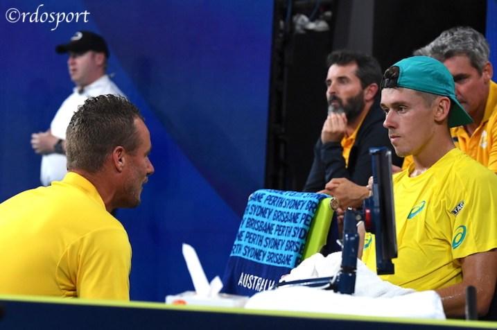 Alex De Minaur con Leyton Hewitt Team Australia ATP CUP 2020 Sydney - foto di Roberto Dell'Olivo