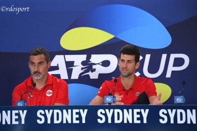 Nenad Zimonjić e Novak Djokovic Team Serbia - ATP CUP 2020 Sydney
