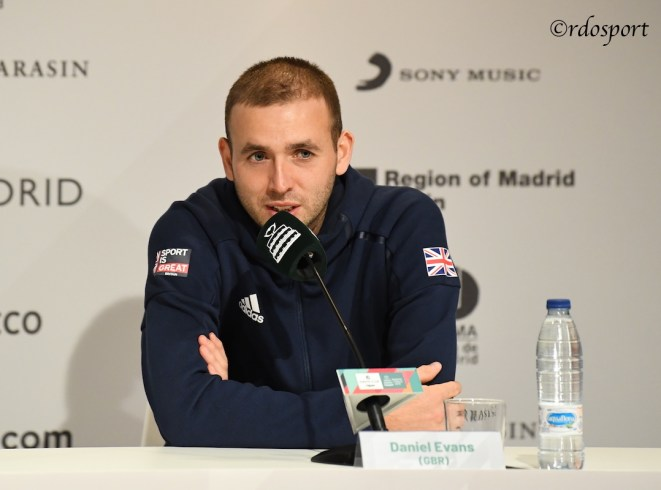 Daniel Evans Team GB - Davis Cup Madrid 2019
