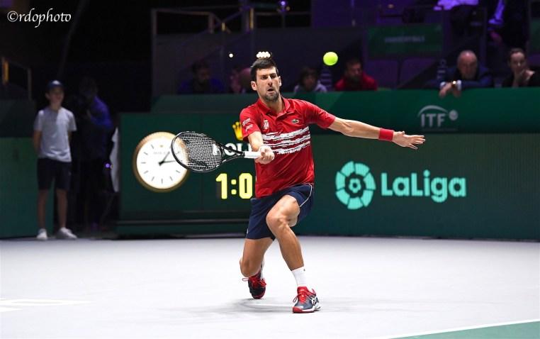 Novak Djokovic - TEAM SERBIA - Davis Cup Madrid 2019- foto di Roberto Dell'olivo
