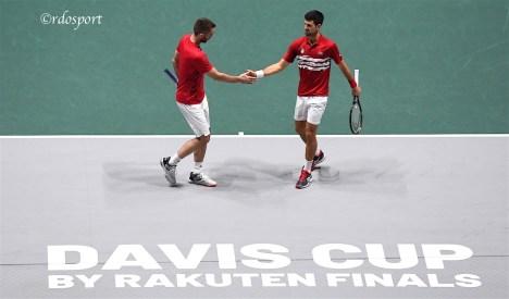 Victor Troicki e Novak Djokovic - Team Serbia - Davis Cup Madrid 2019