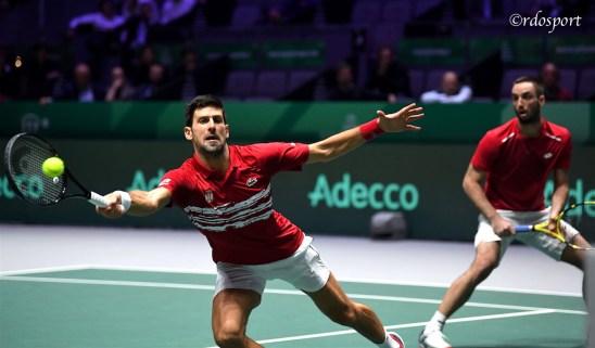 il doppio della Serbia Djokovic-Troicki ha perso il match decisivo contro la Russia - Davis Cup Madrid 2019 - foto di Roberto Dell'Olivo