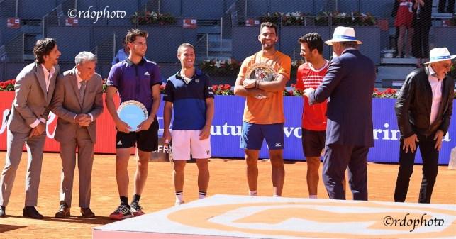 Premiazione finale doppio maschile con lo show di Tiriac e Nastase - foto di Roberto Dell'Olivo